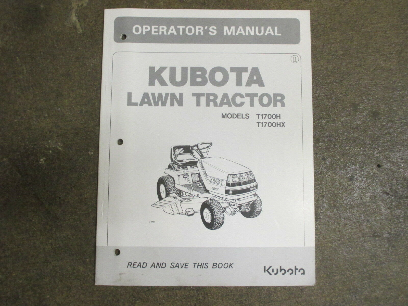 Kubota T1700H T1700HX T1700 H tractor & mower owners & maintenance manual 1  of 1Only 1 available ...