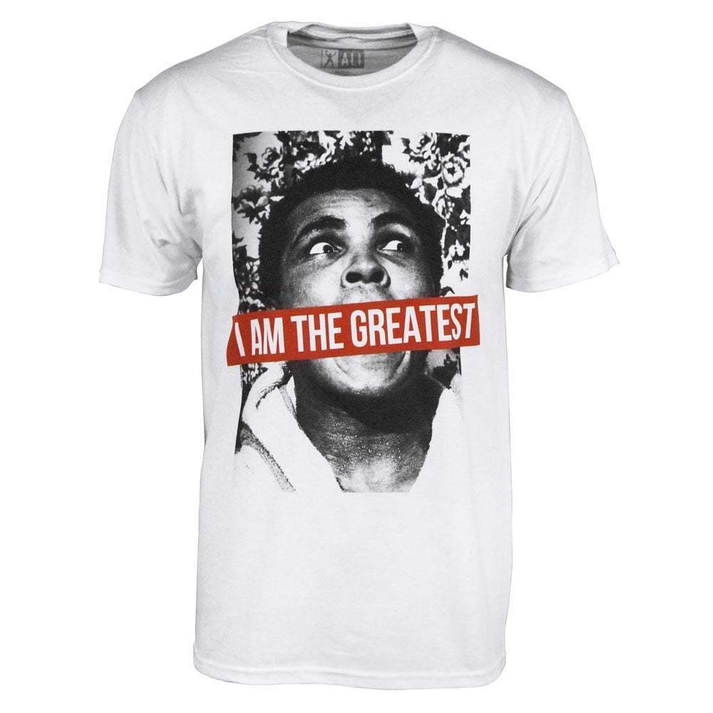 6411642c Mens Muhammad Ali I Am The Greatest Boxing Heavyweight Champion T Shirt  White 1 of 1Only 4 available ...