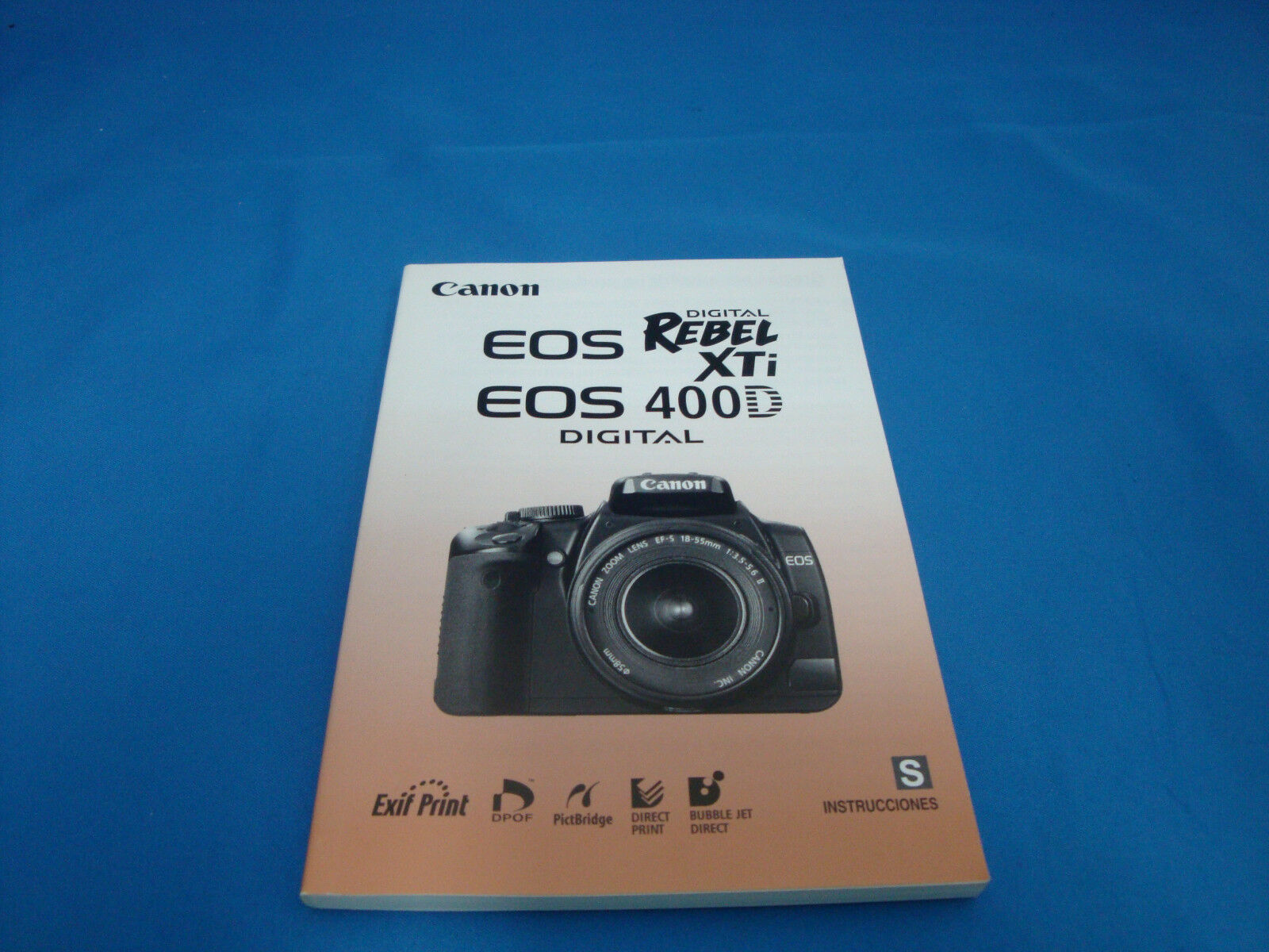 Canon Digital EOS REBEL XTi / 400D Spanish User Guid / Instruction Manual 1  of 1FREE Shipping ...