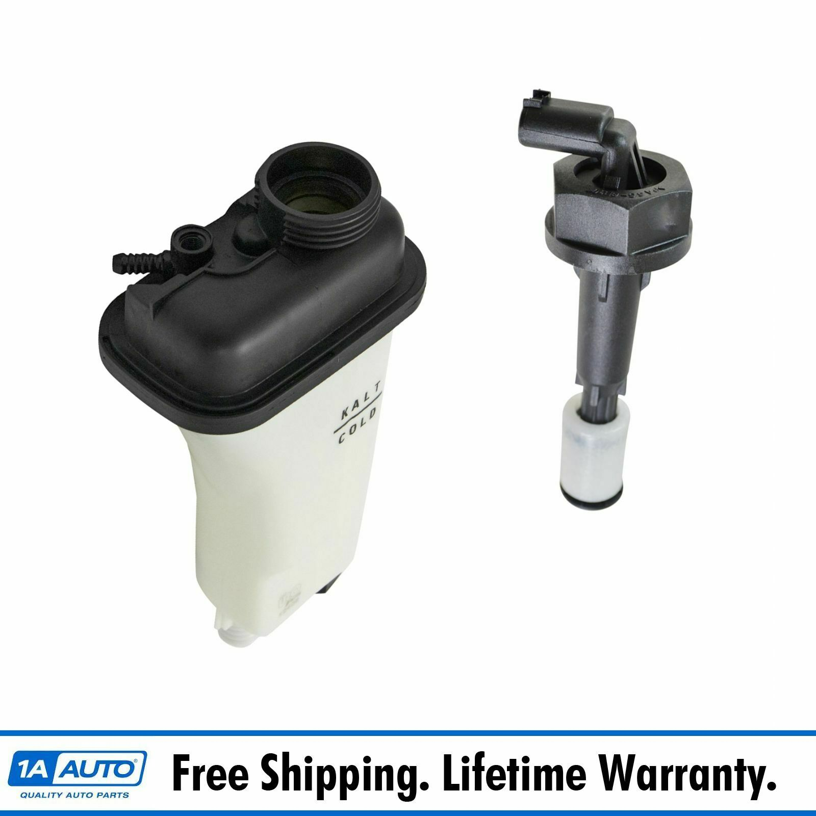 Radiator Coolant Overflow Tank Bottle Reservoir With Level Sensor Bmw 525i Expansion Cap For 1 Of 4only Available