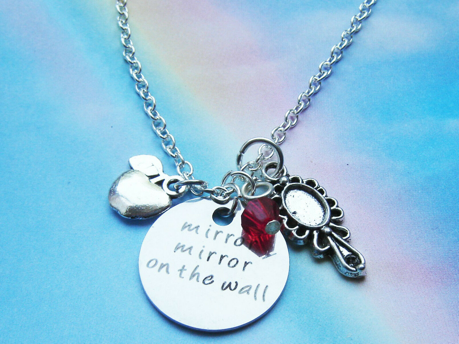 Mirror Mirror On The Wall Charms Necklace Snow White Quote Themed