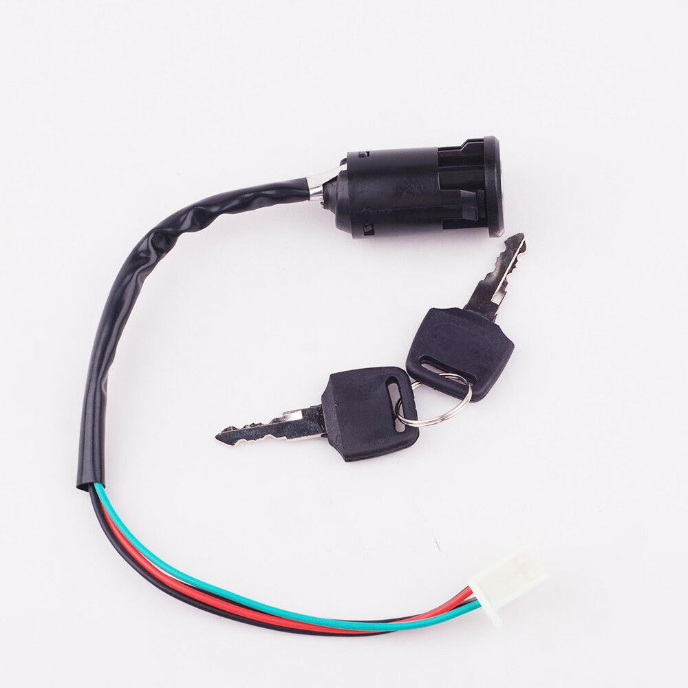 Atv Key Ignition Switch 4 Wire 50 70 90 Motorbike Go Kart Moped Four 1 Of 8free Shipping