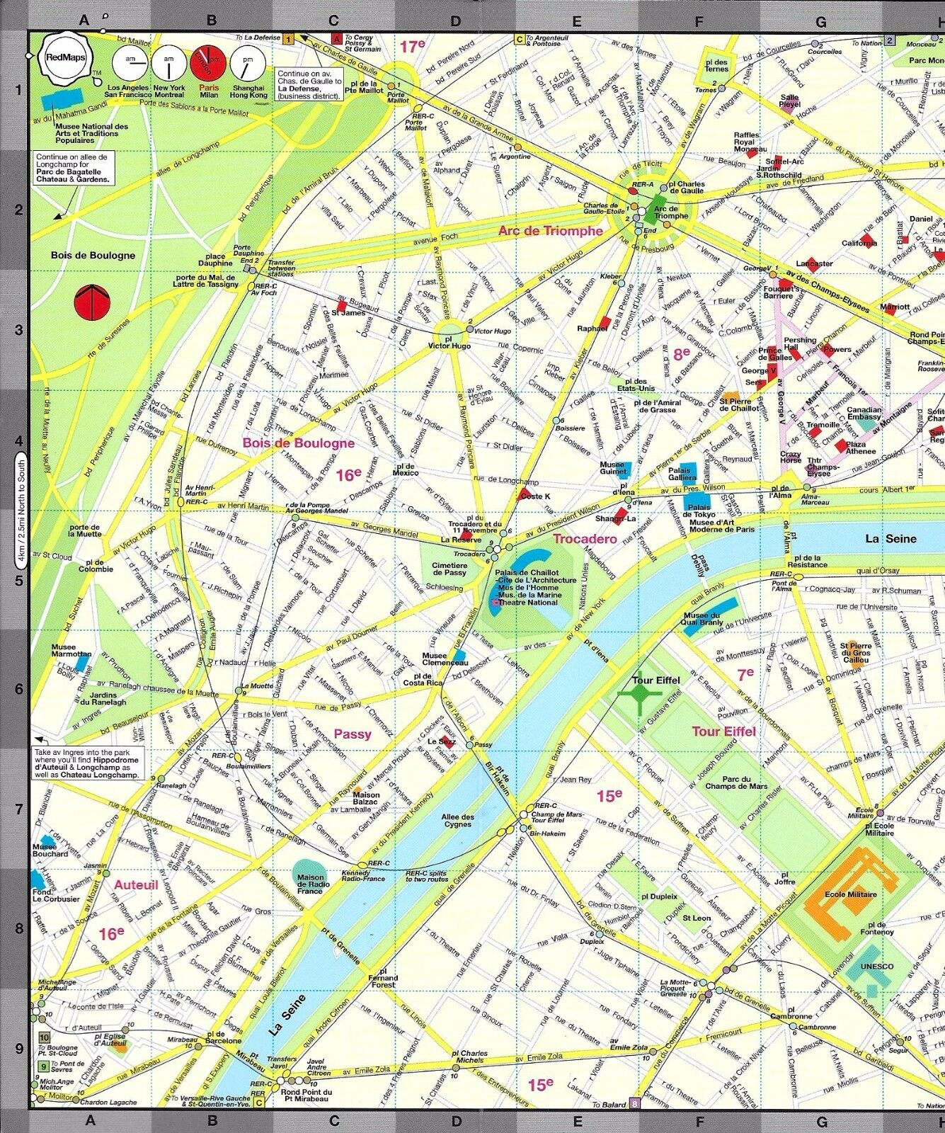 Map of Paris France by Red Maps street map 295 PicClick – Streetmap France