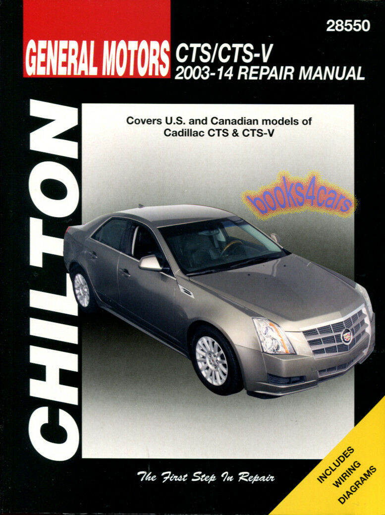 Shop Manual Cts Service Repair Cadillac Chilton Haynes Book 1 of 1FREE  Shipping ...