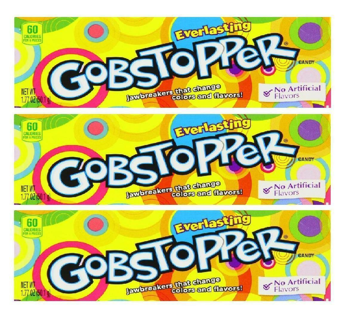 3 x Formally Wonka Everlasting Gobstoppers 50.1g Box Retro Sweets