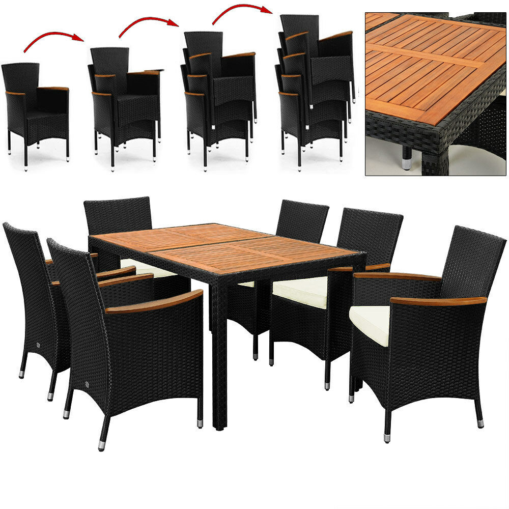 poly rattan sitzgruppe lounge garten m bel gartengarnitur sitzgarnitur gartenset eur 319 95. Black Bedroom Furniture Sets. Home Design Ideas