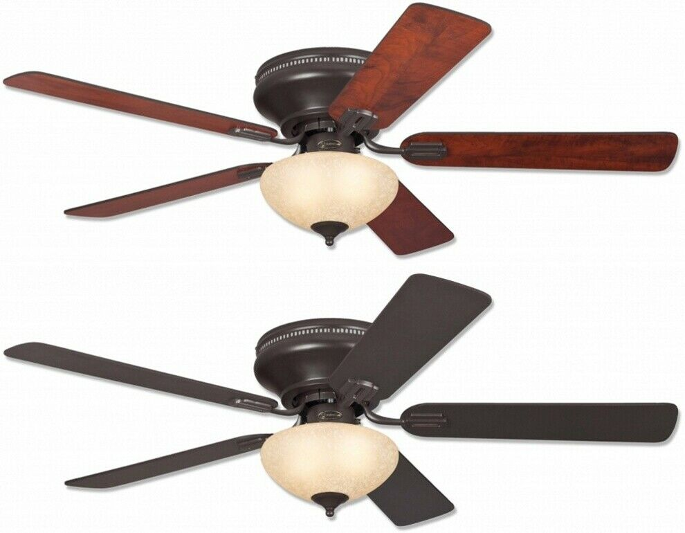 Everett 52 Westinghouse Low Profile Ceiling Fan Expresso Brown With Light 1 Of 2free See More