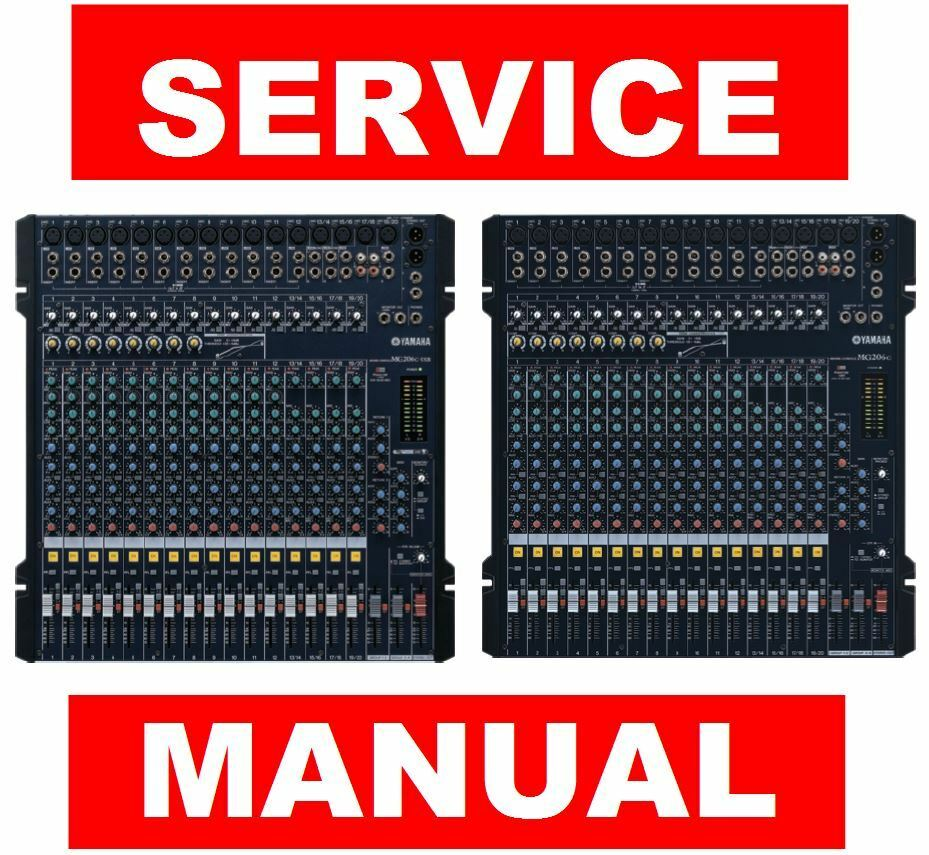 Yamaha Mg206c Usb Mixing Console Service Manual And Repair 01v96 Block Diagram 1 Of 5free Shipping