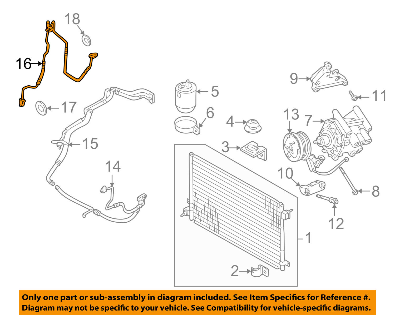 Jaguar Oem 02 06 S Type A C Ac Hose Line Pipe Xr842545 15399 Diagram Of The X 3 0 Engine 1 2free Shipping