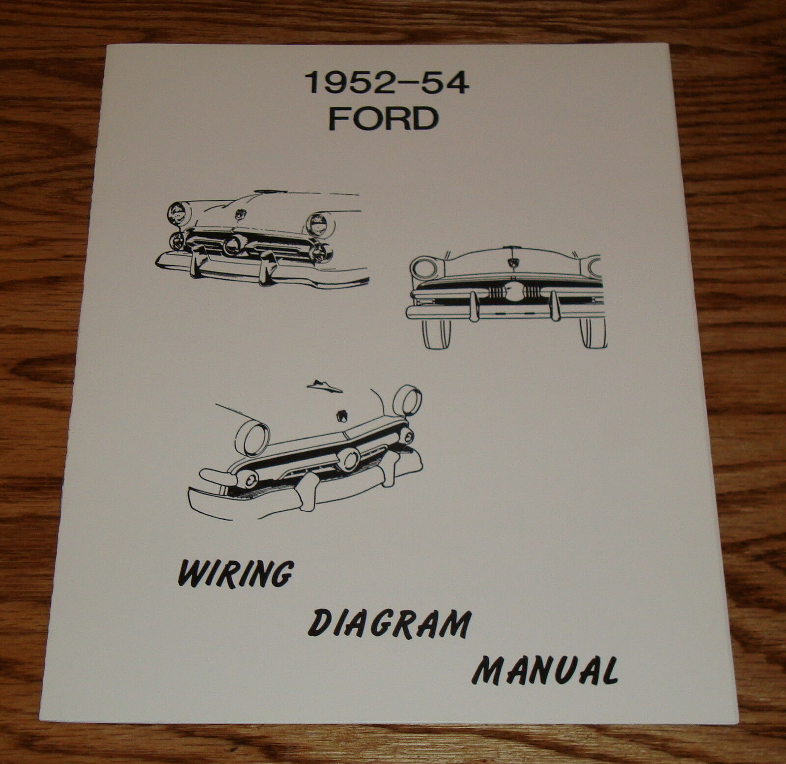 1952 1953 1954 Ford Car Wiring Diagram Manual 52 53 54