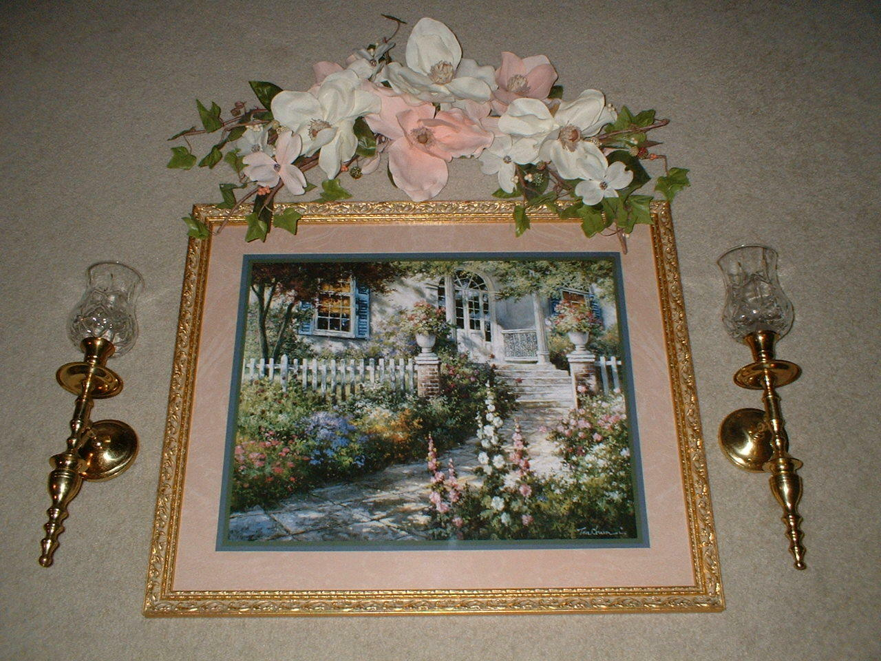 Retired 6 Pc Home Interiors Grouping Floral Welcome