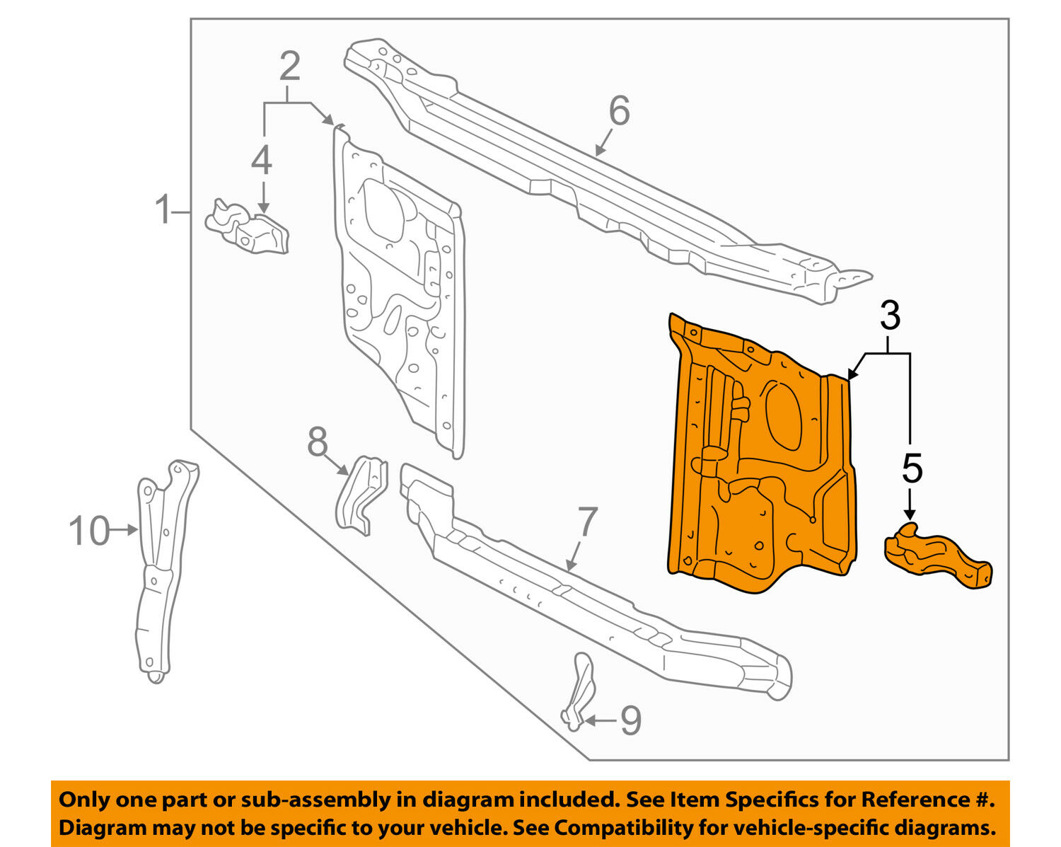 Toyota Tacoma Cooling System Diagram Kia Sorento Oem Radiator Support Side Panel Left Of Only Available 1500x1197