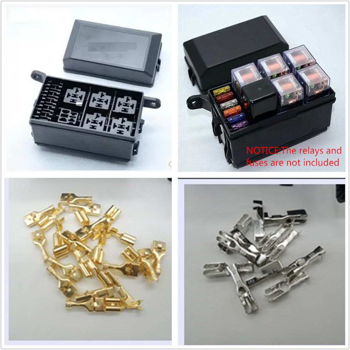 Fuse Box Auto 6 Relay Block Holder 5 Road For Nacelle Car Trunk SUV  Insurance 1 of 4FREE Shipping Fuse Box Auto ...