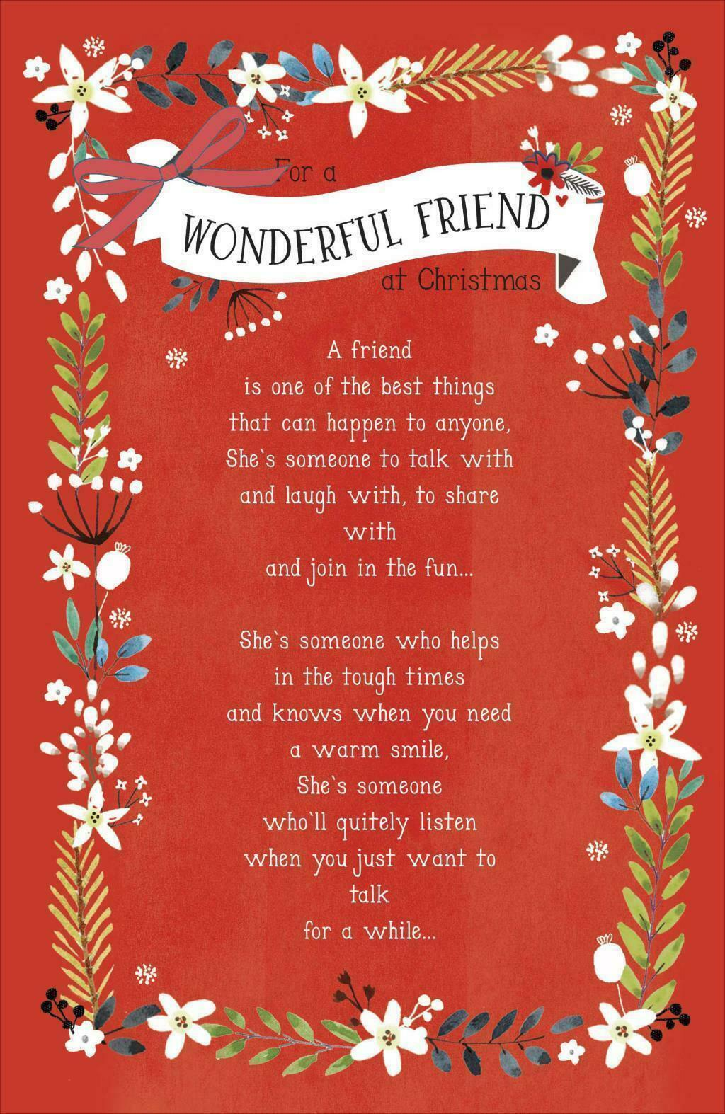 What is a friend floral nice sentimental verse christmas greeting what is a friend floral nice sentimental verse christmas greeting card 1 of 1only 5 available m4hsunfo