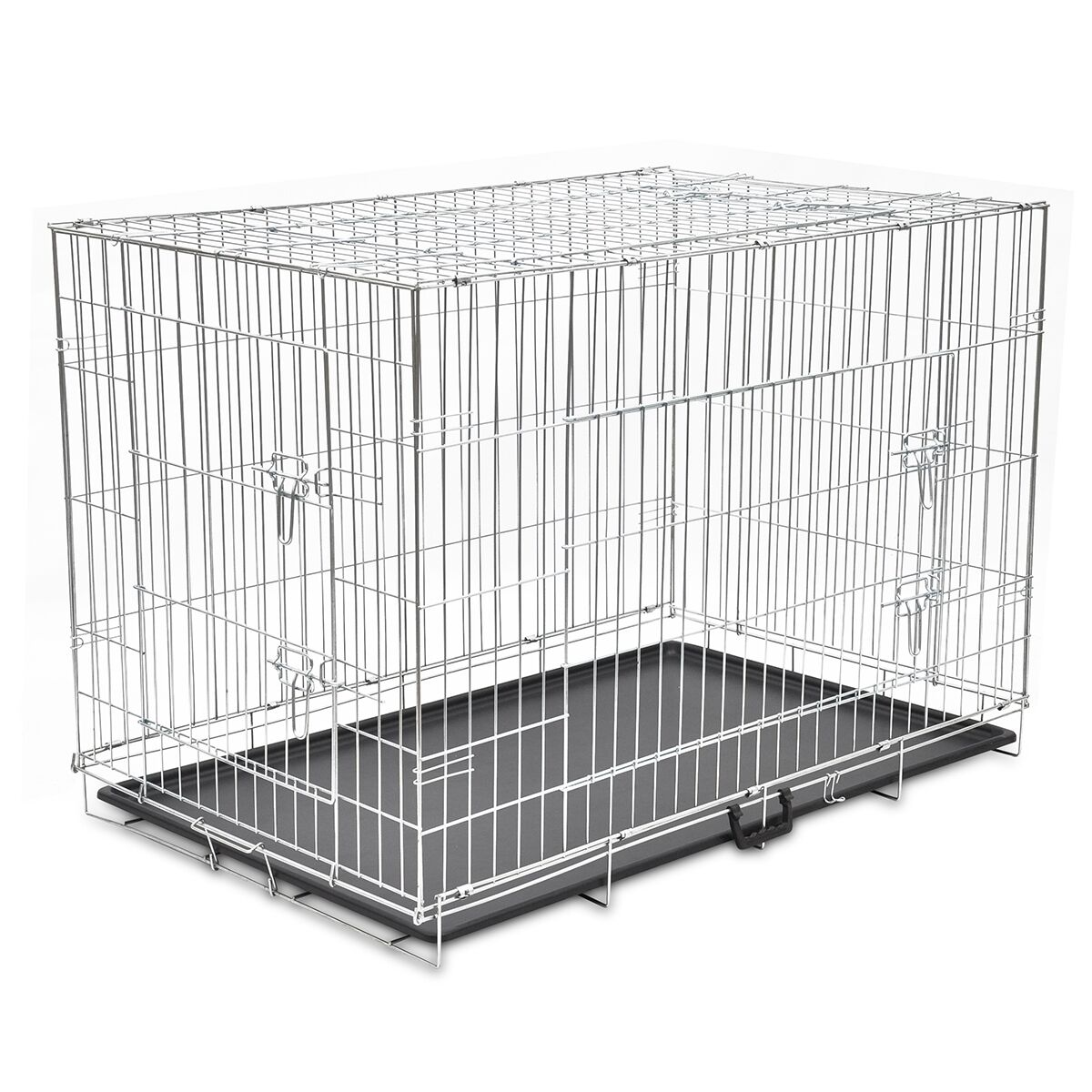 48 xxl dog cage crate pet kennel puppy cat rabbit metal. Black Bedroom Furniture Sets. Home Design Ideas