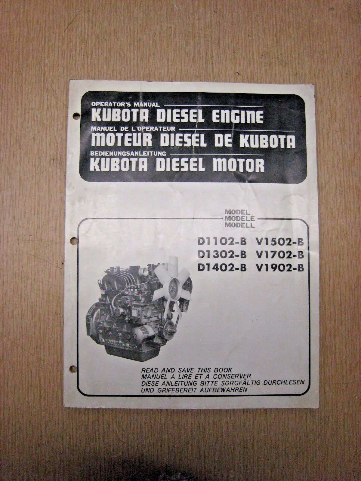 Kubota Diesel Engine Operator's Manual 1 of 5Only 1 available ...