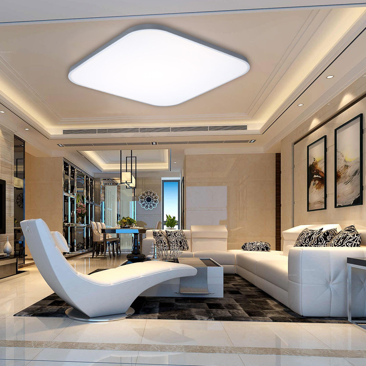 Bright 36w Led Ceiling Light Downlight Flush Mount Wall Kitchen Fixture Dimmable