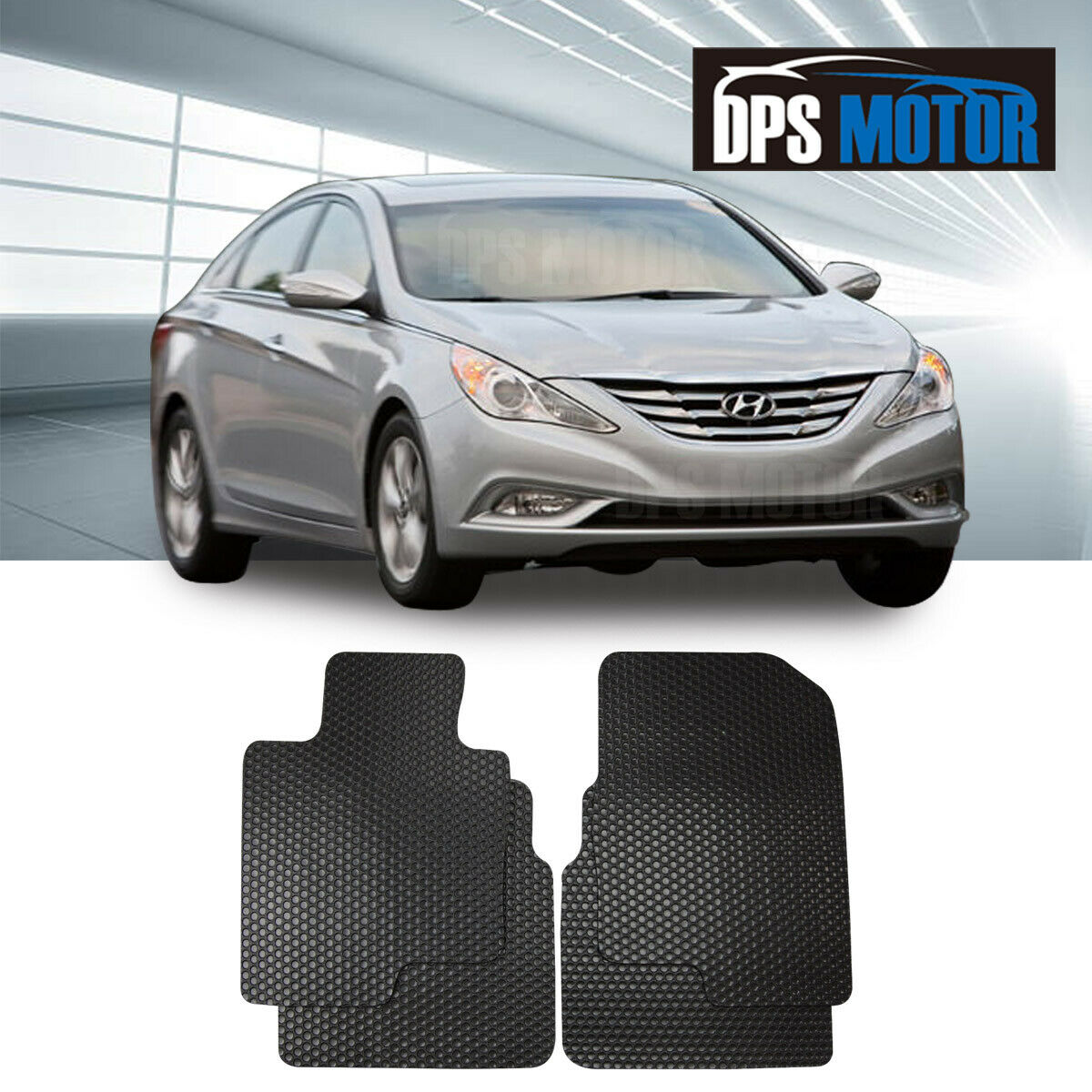 All Weather Black/Beige Rubber Floor Mats Front Rear For 10 14 Hyundai  Sonata