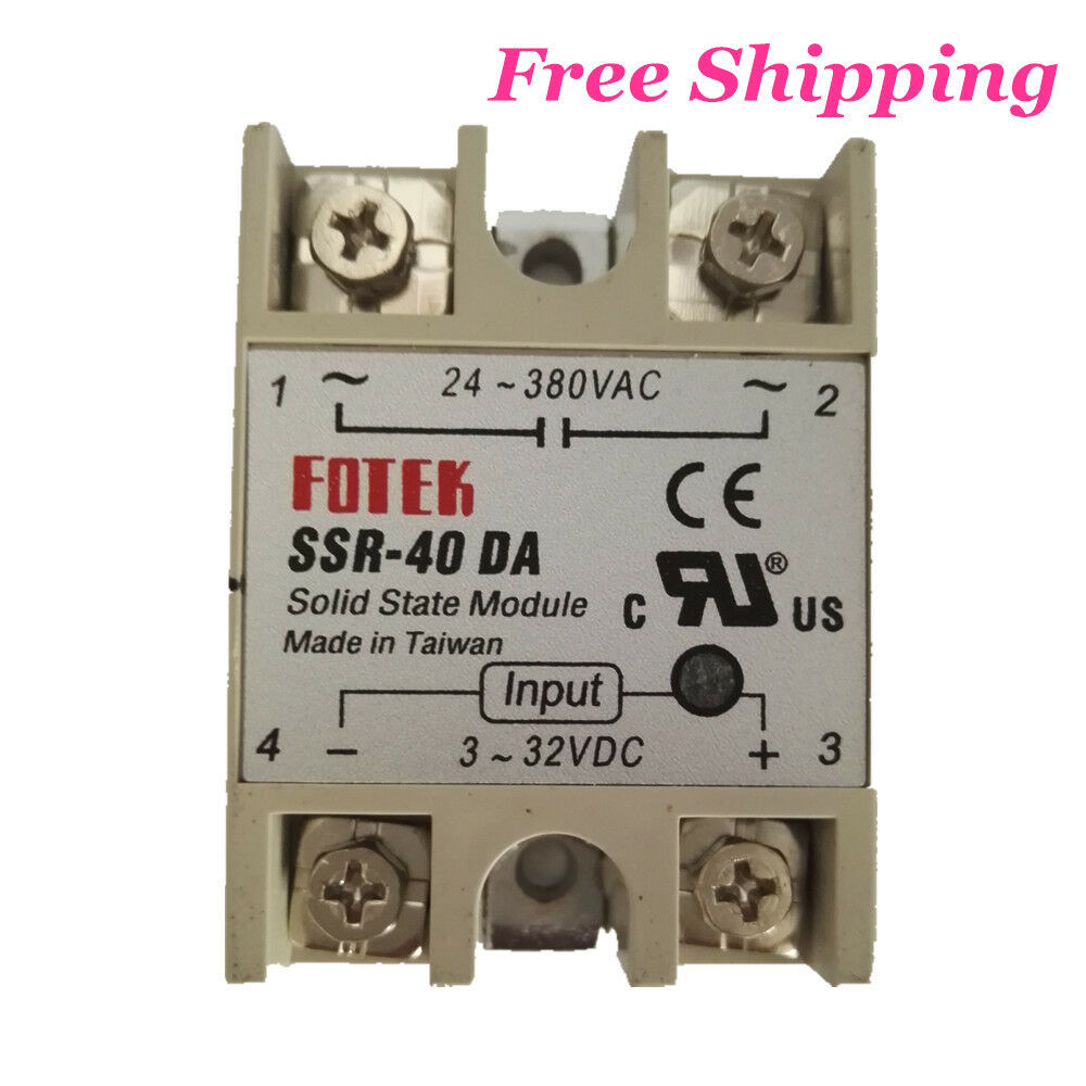 New Solid State Relay Dc Ac Ssr 40da 40a Input 3 32v Output 24 Canada 1 Of 4free Shipping