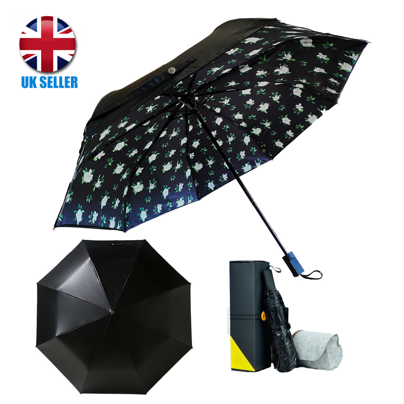 premium quality audi umbrella folding automatic genuine designer black brolly eur 20 65. Black Bedroom Furniture Sets. Home Design Ideas