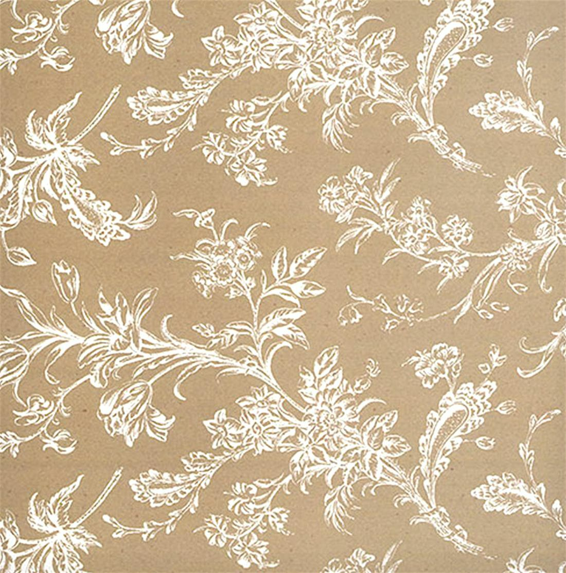 White Lace Flowers Gift Wrap Tissue Paper 10 Printed Patterned