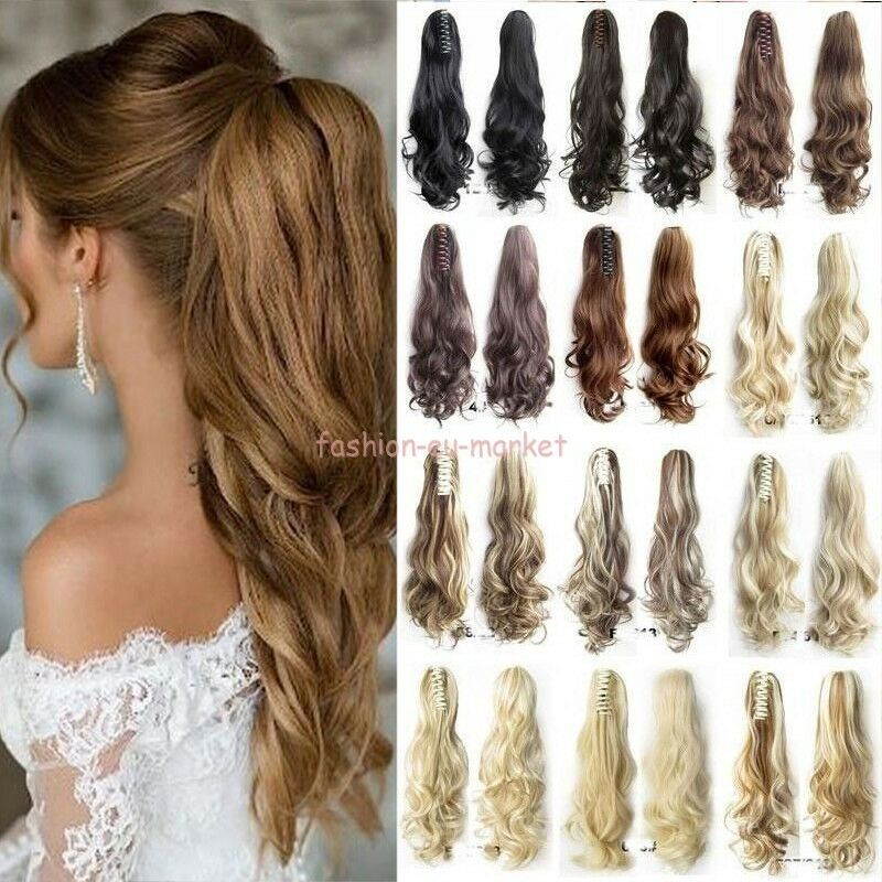 Thick Ponytail Clip In Hair Extension Claw Pony Tail Clip On