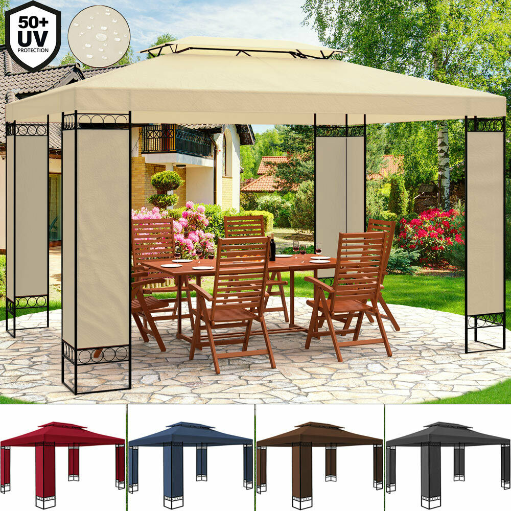 pavillon 3x4m festzelt zelt partyzelt gartenpavillon gartenzelt garten pavillion eur 119 95. Black Bedroom Furniture Sets. Home Design Ideas