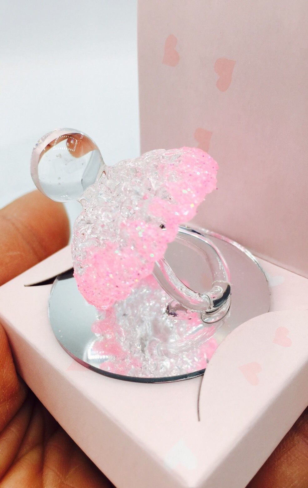 12-BABY SHOWER PARTY Favors Crystal Pacifier Pink Cake Topper Girl ...