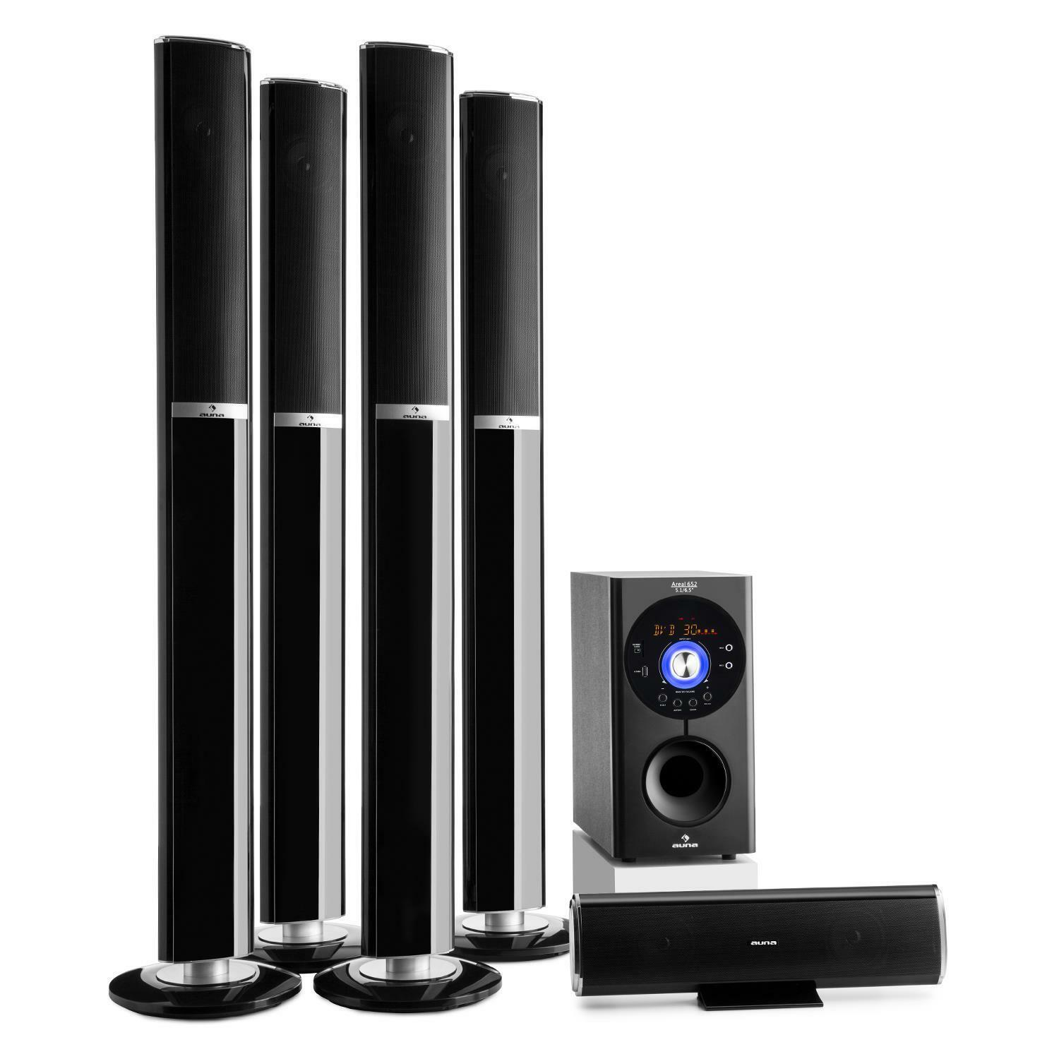 5 1 surround sound home cinema speaker system bluetooth - Home cinema bluetooth ...