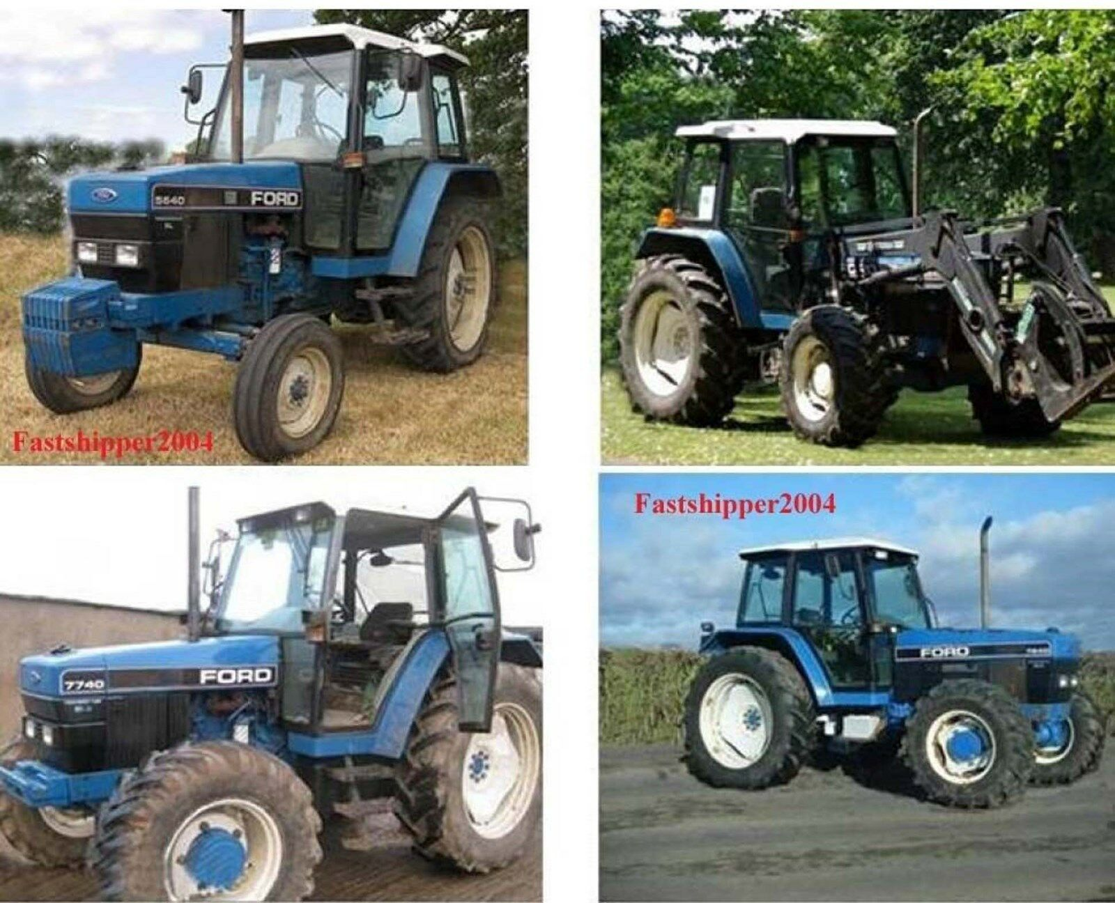 Ford New Holland 40 Series Tractors 5640 6640 7740 7840 8240 8340 Service  Manual 1 of 5FREE Shipping Ford New Holland 40 Series Tractors 5640 6640  7740 ...
