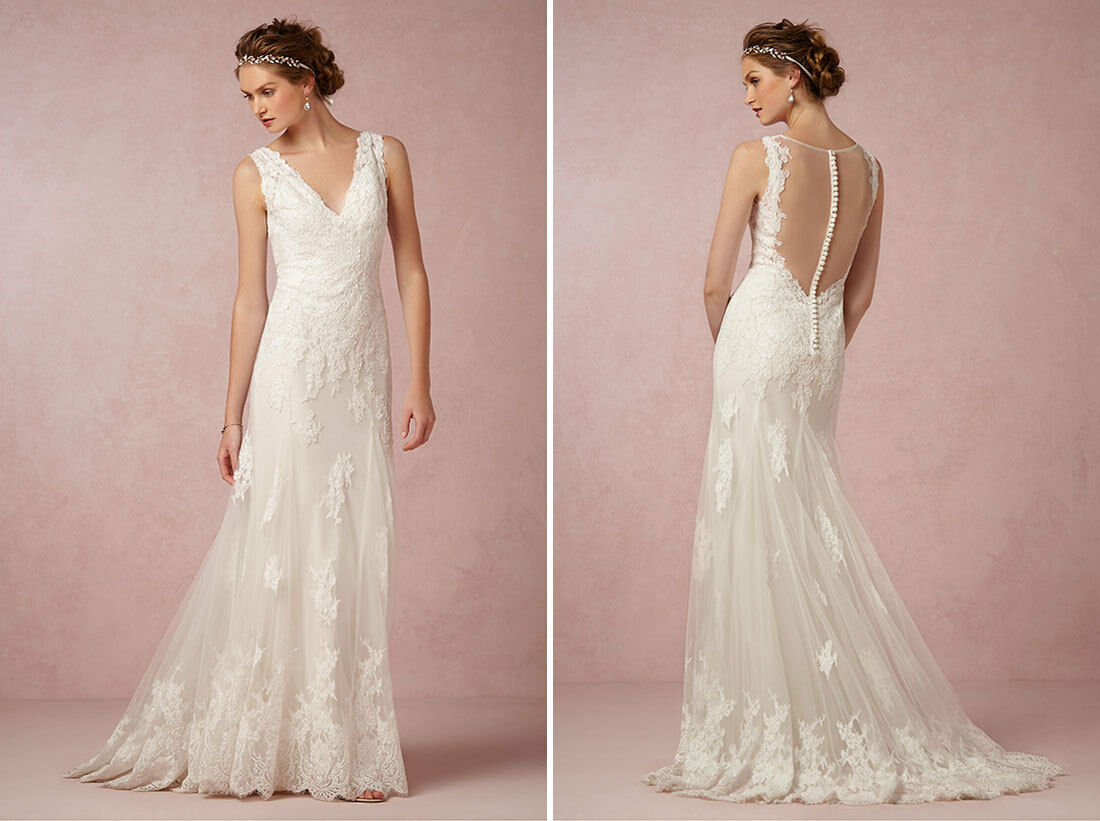 BHLDN WATTERS FRANCINE Wedding Gown Ivory Size 6 BRAND NEW NEVER ...