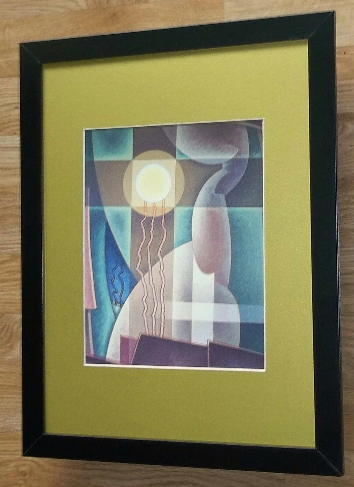ART DECO framed print - Abstraction in Yellow -12\'\'x16\'\', Art Deco ...