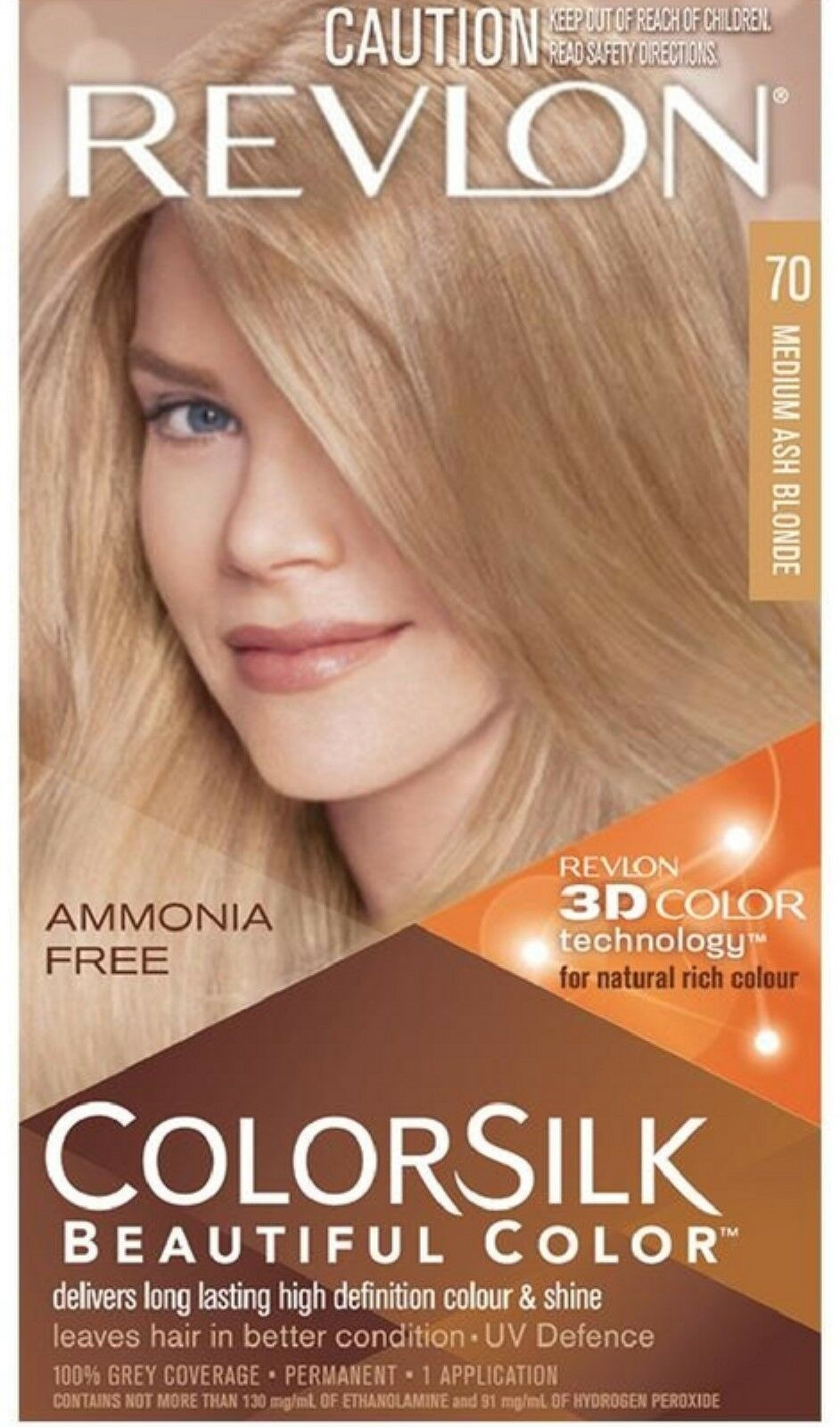 Revlon Colorsilk Hair Color 70 Medium Ash Blonde 1 Each 643