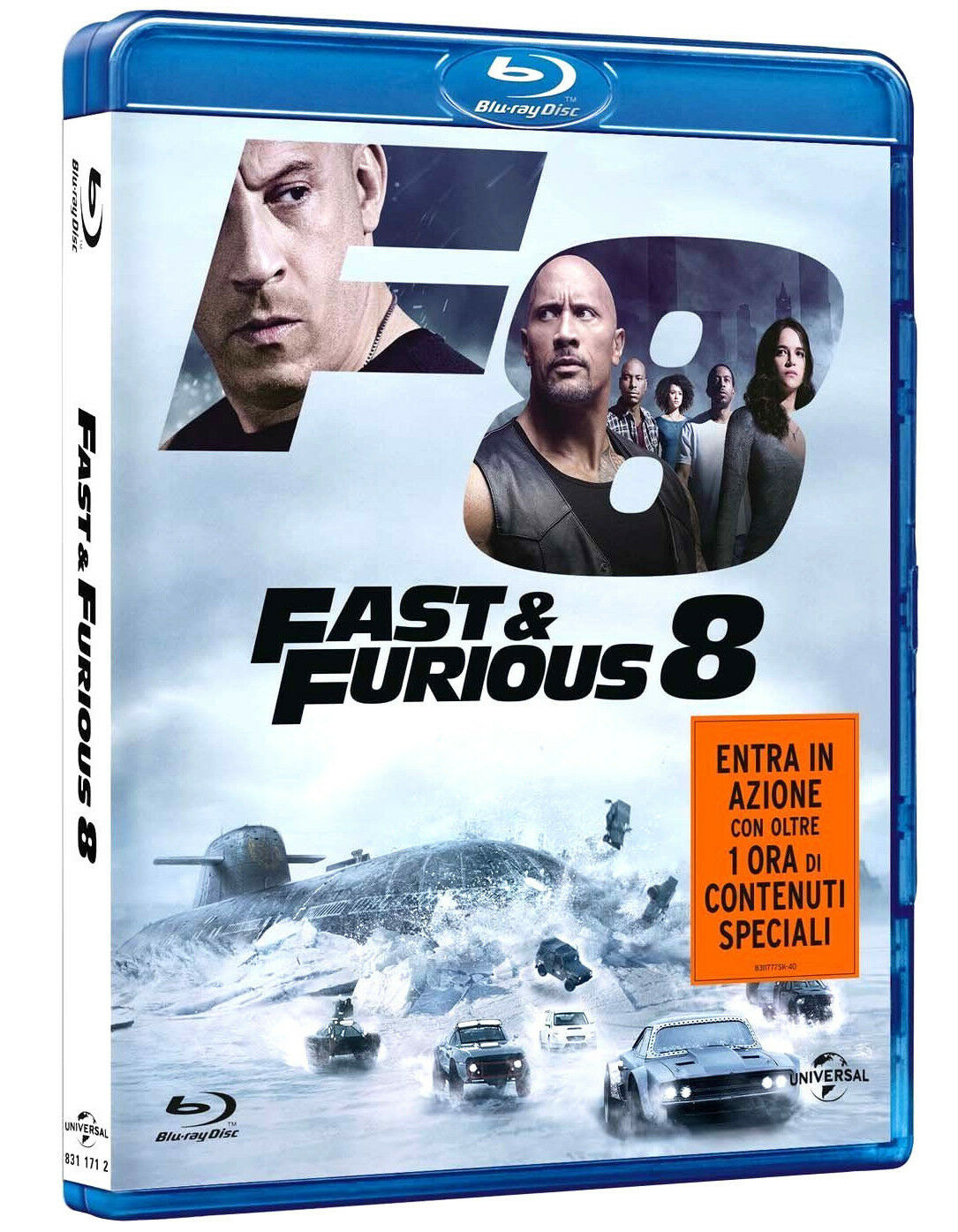 fast and furious 8 blu ray dwayne johnson vin diesel charlize theron chf picclick ch. Black Bedroom Furniture Sets. Home Design Ideas