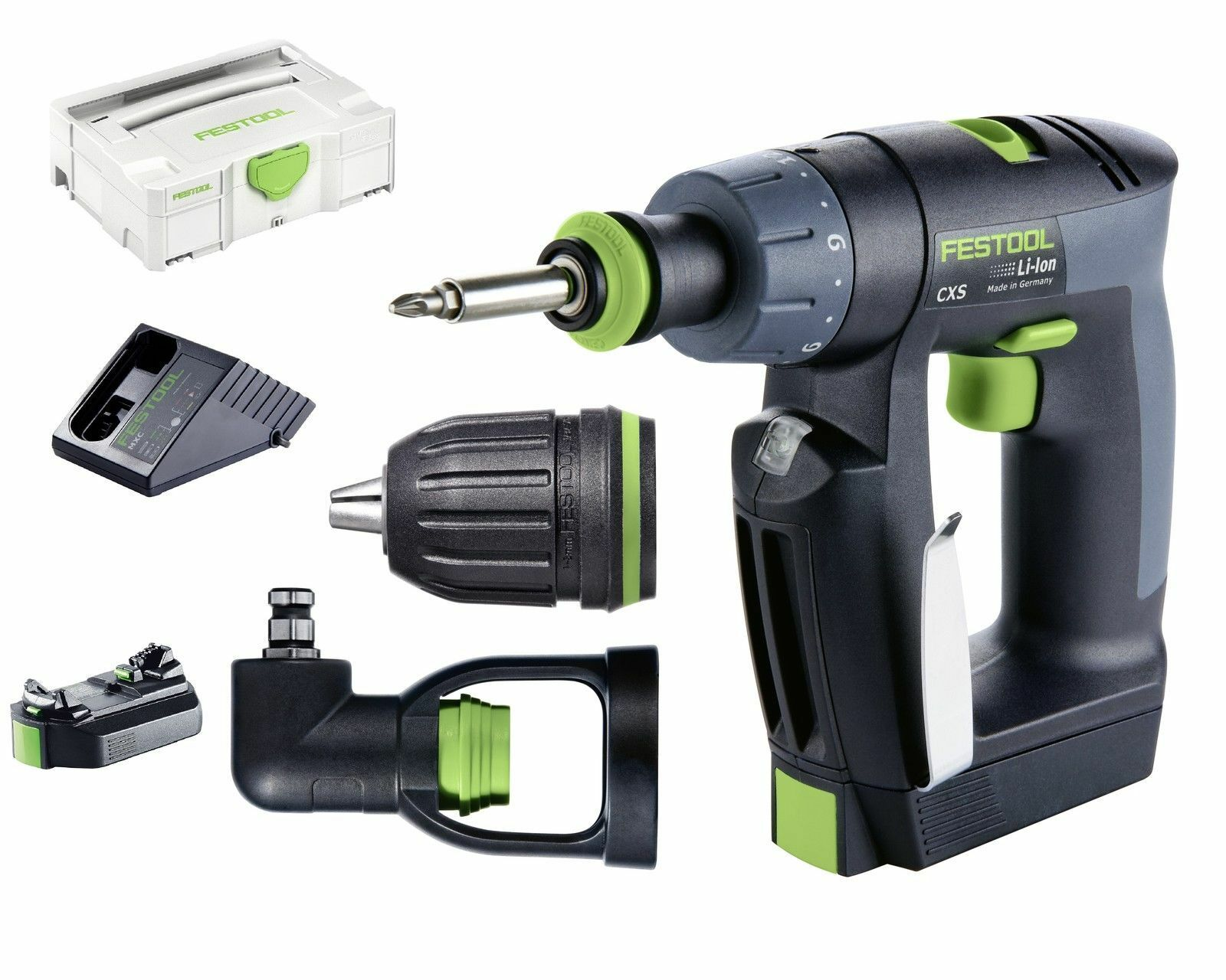 festool akkuschrauber akku bohrschrauber cxs li 2 6 set 10 8 v 564532 systainer eur 264 90. Black Bedroom Furniture Sets. Home Design Ideas