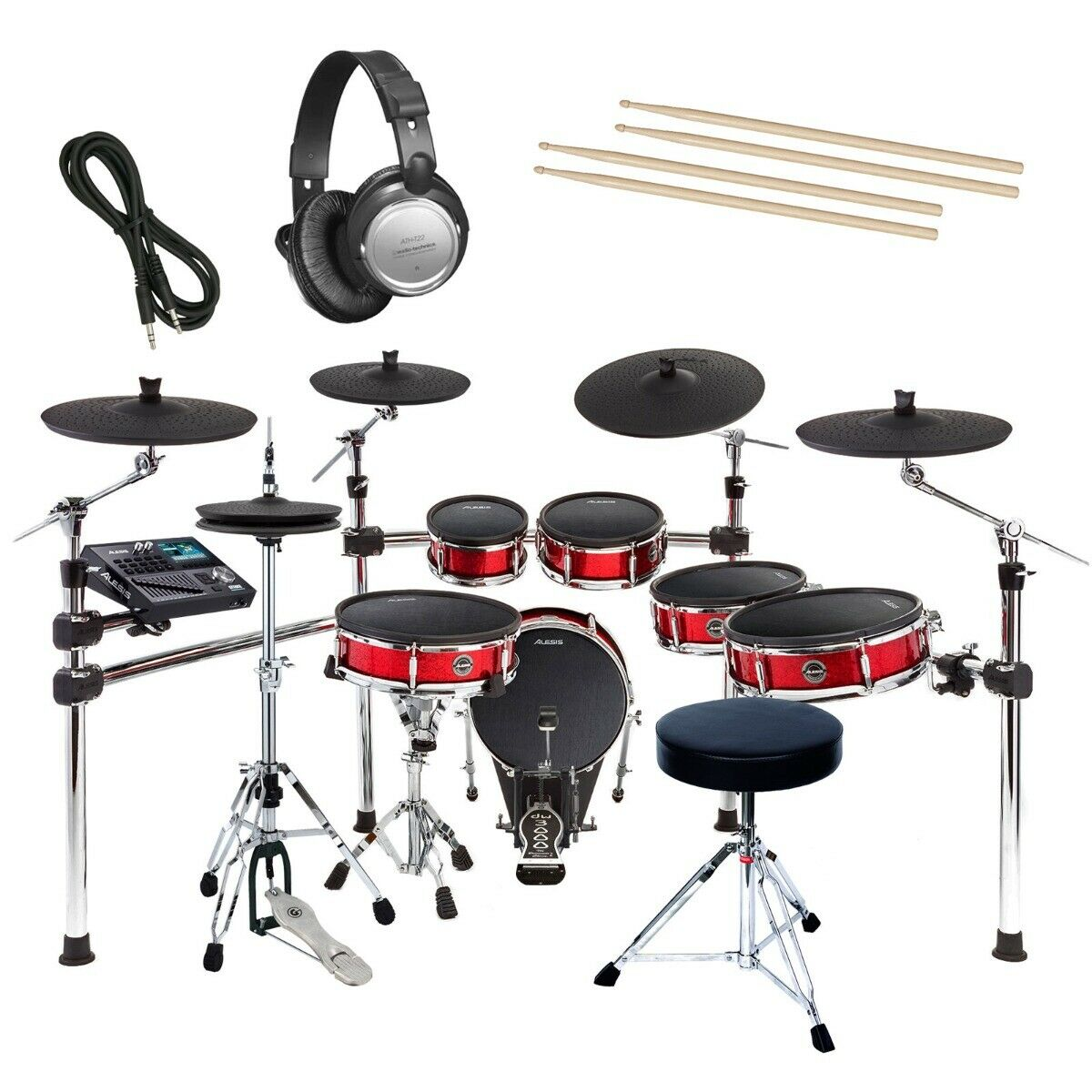 Alesis Strike Pro Kit Electronic Drum Set Essentials Bundle 1 Of 7only 0 Available