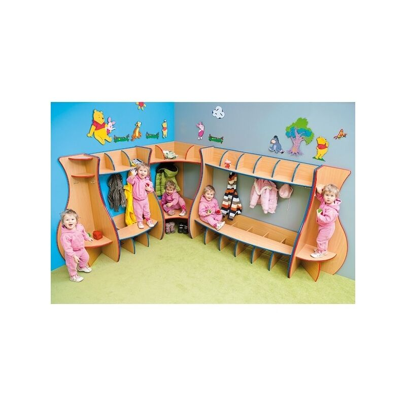 School Nursery Cloakroom Coat Hanger Rack Rail Kids Childrens 1 Of 4only 3 Available