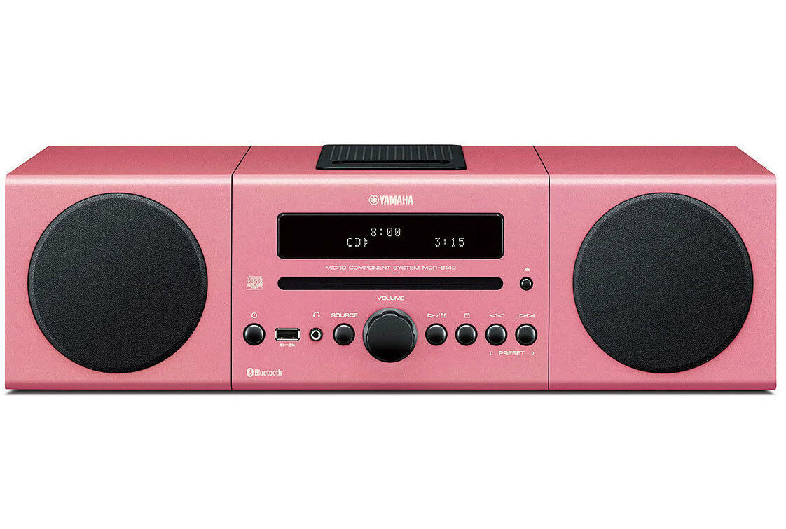pink yamaha mcr b142 micro component stereo system bluetooth brand new sealed cad. Black Bedroom Furniture Sets. Home Design Ideas