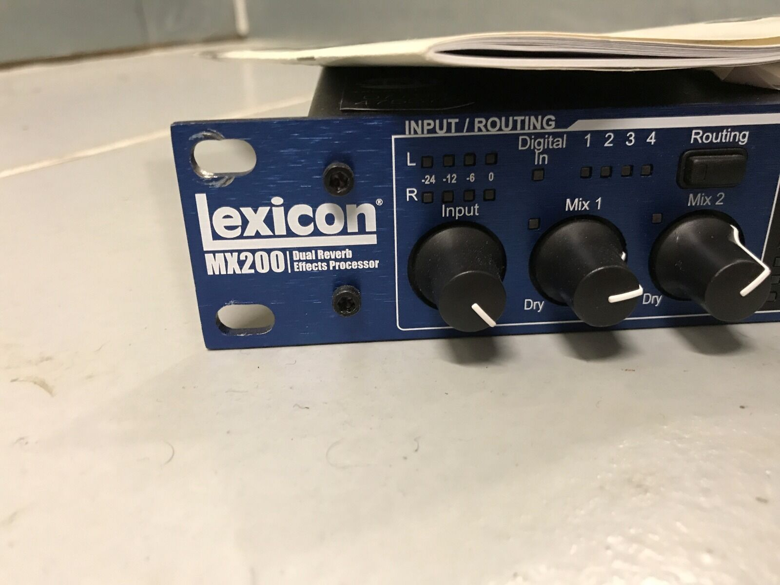 lexicon mx200 dual reverb effects processor manual