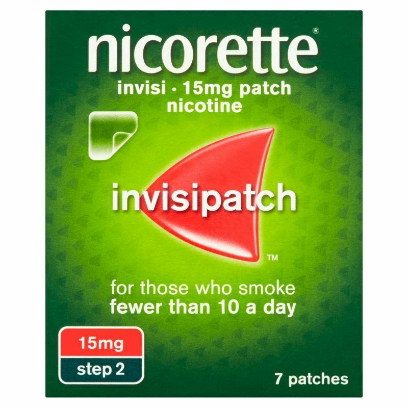 Nicorette Invisi Patch 15mg Step 2 - 7 Patches 1 2 3 6 12 Packs