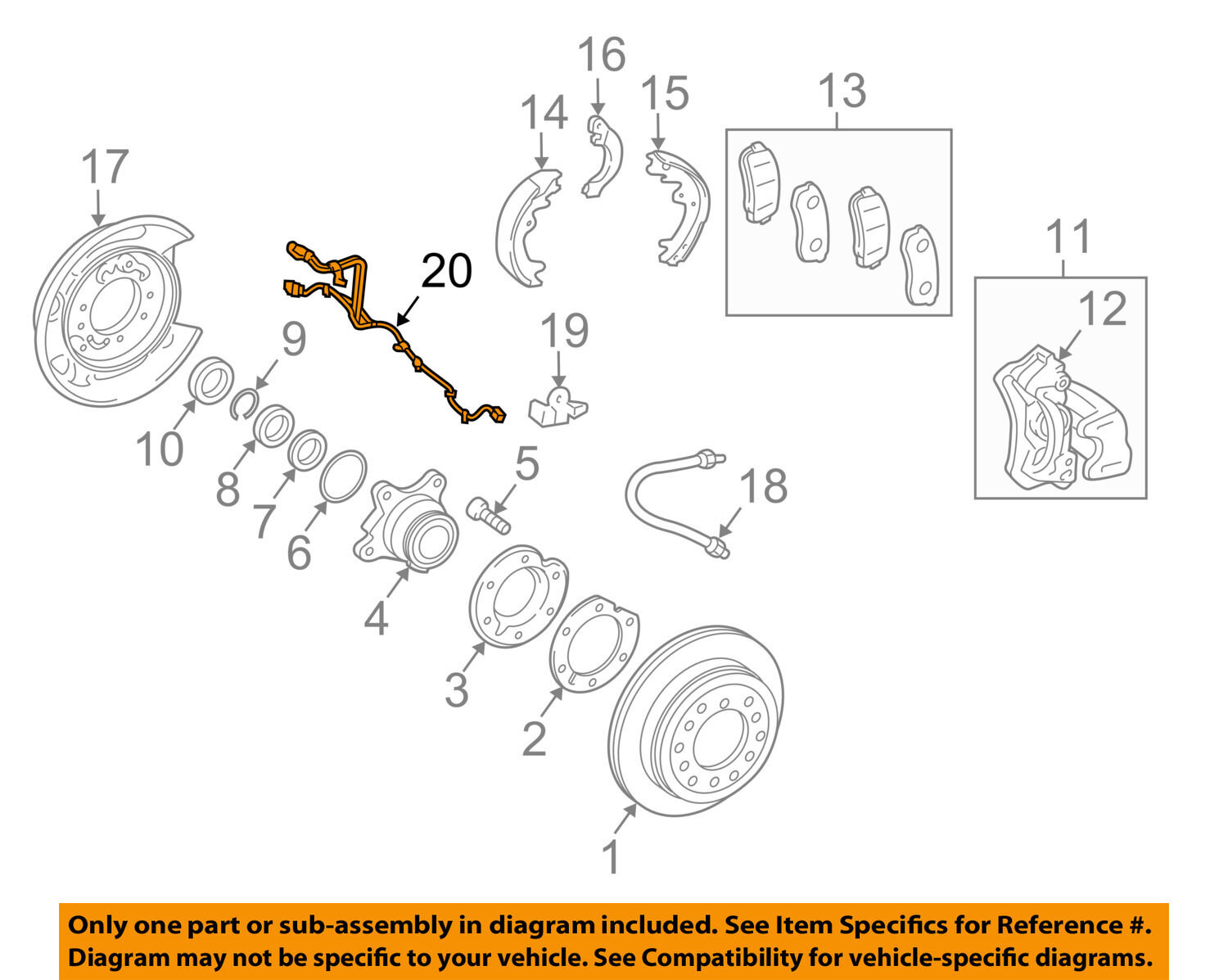 Toyota Oem Abs Anti Lock Brakes Rear Sensor Wire 8951660300 2010 Prius Wiring Diagram 1 Of 2only 5 Available