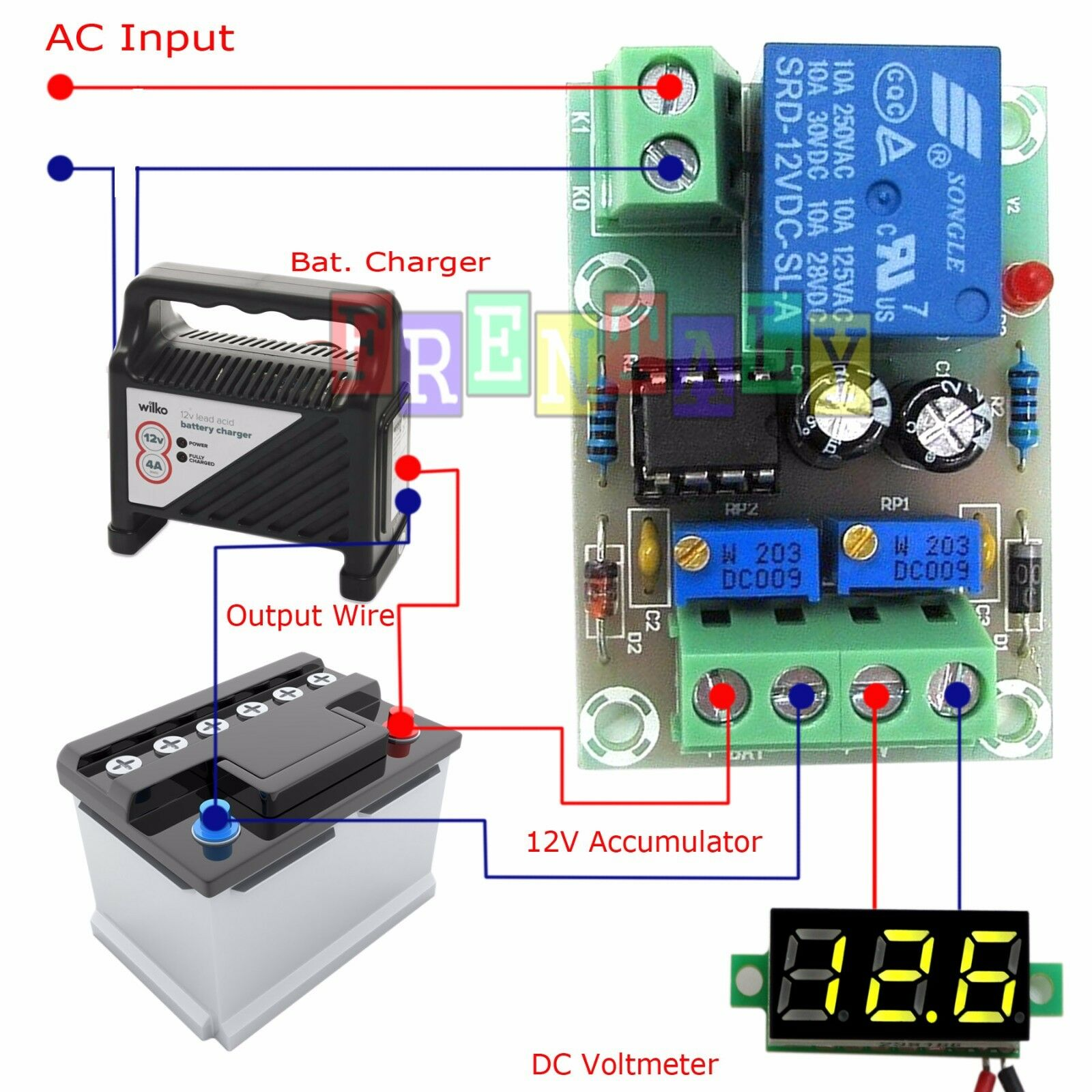 12v Charger Charging Control Module Lithium Lead Battery 6v Or Acid Using Lm317 Protection Board 1 Of 5free Shipping
