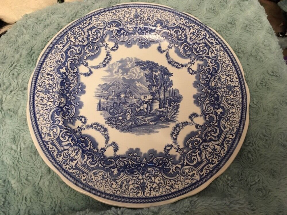 Spode Blue Room Collection Plate Continental Views