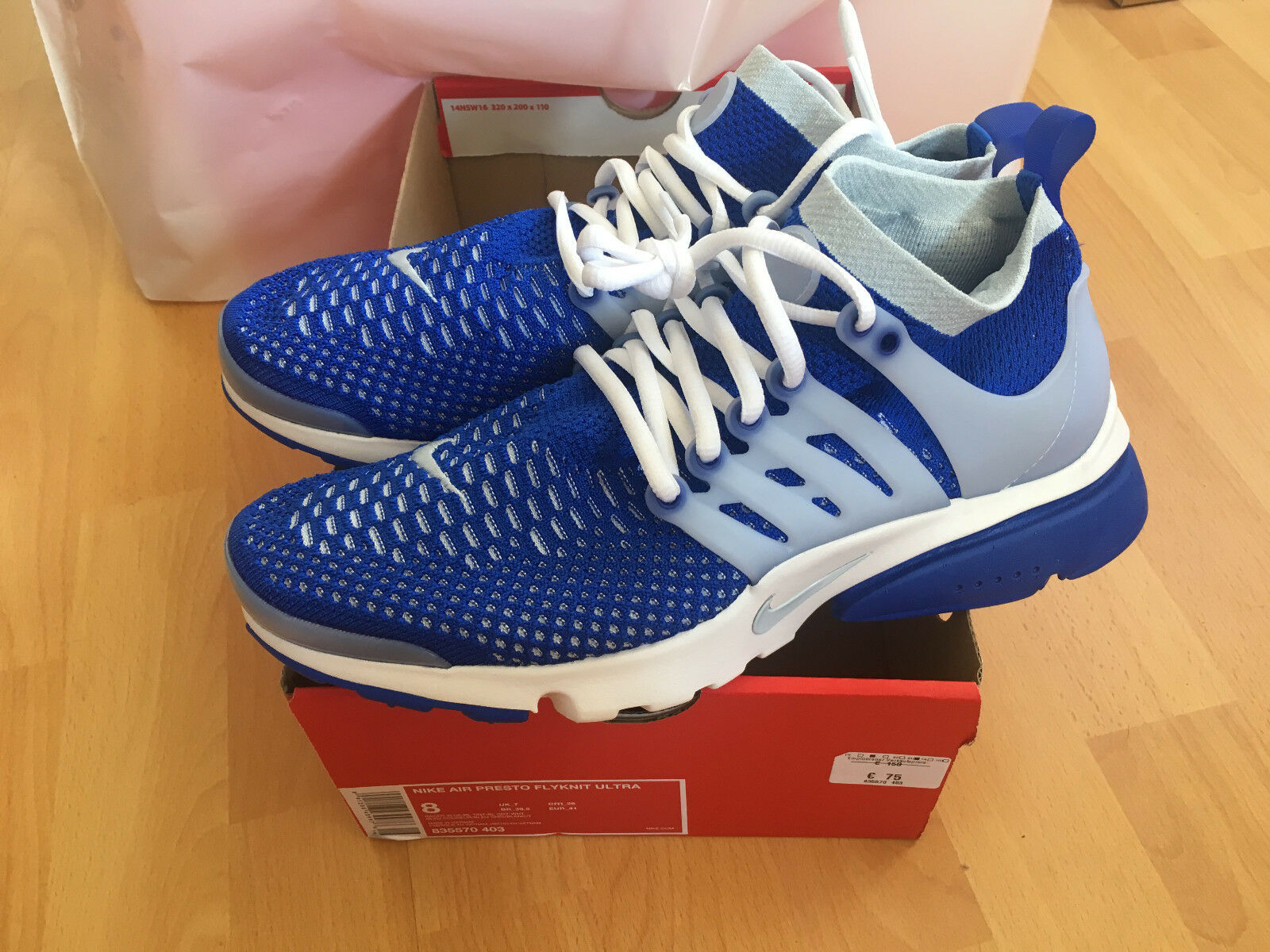 nike air presto flyknit ultra 8 blau fitness running. Black Bedroom Furniture Sets. Home Design Ideas