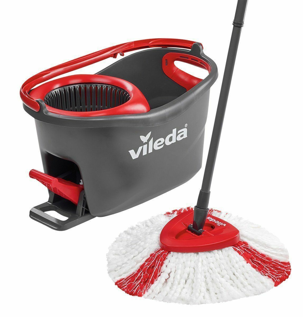 vileda turbo easy wring and clean turbo microfibre spin mop and bucket set picclick uk. Black Bedroom Furniture Sets. Home Design Ideas