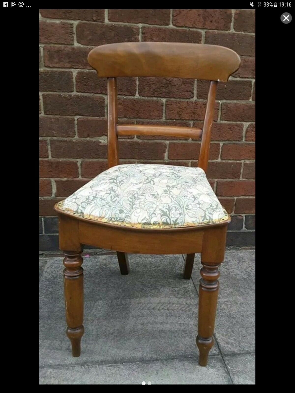 Antique Regency Mahogany Bedroom Hall Chair PicClick UK