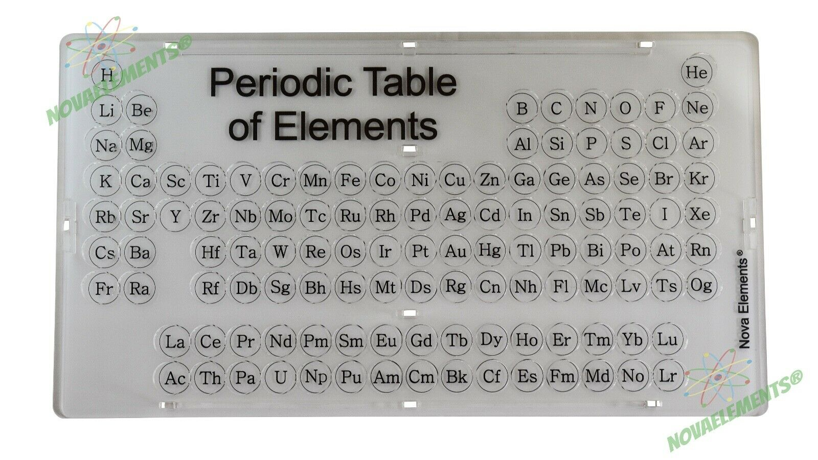 Periodic table of elements collector box 118 holes to for 118 periodic table