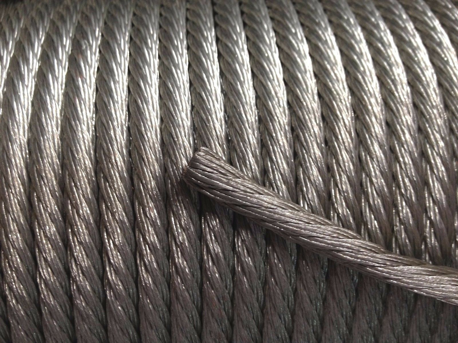 1\' FOOT, 4 AWG Gauge, Tinned Copper Cable, Bare Stranded Braid ...