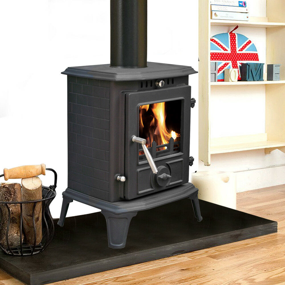 Ja060 5 5kw Multifuel Clean Burn Cast Iron Fireplace Log