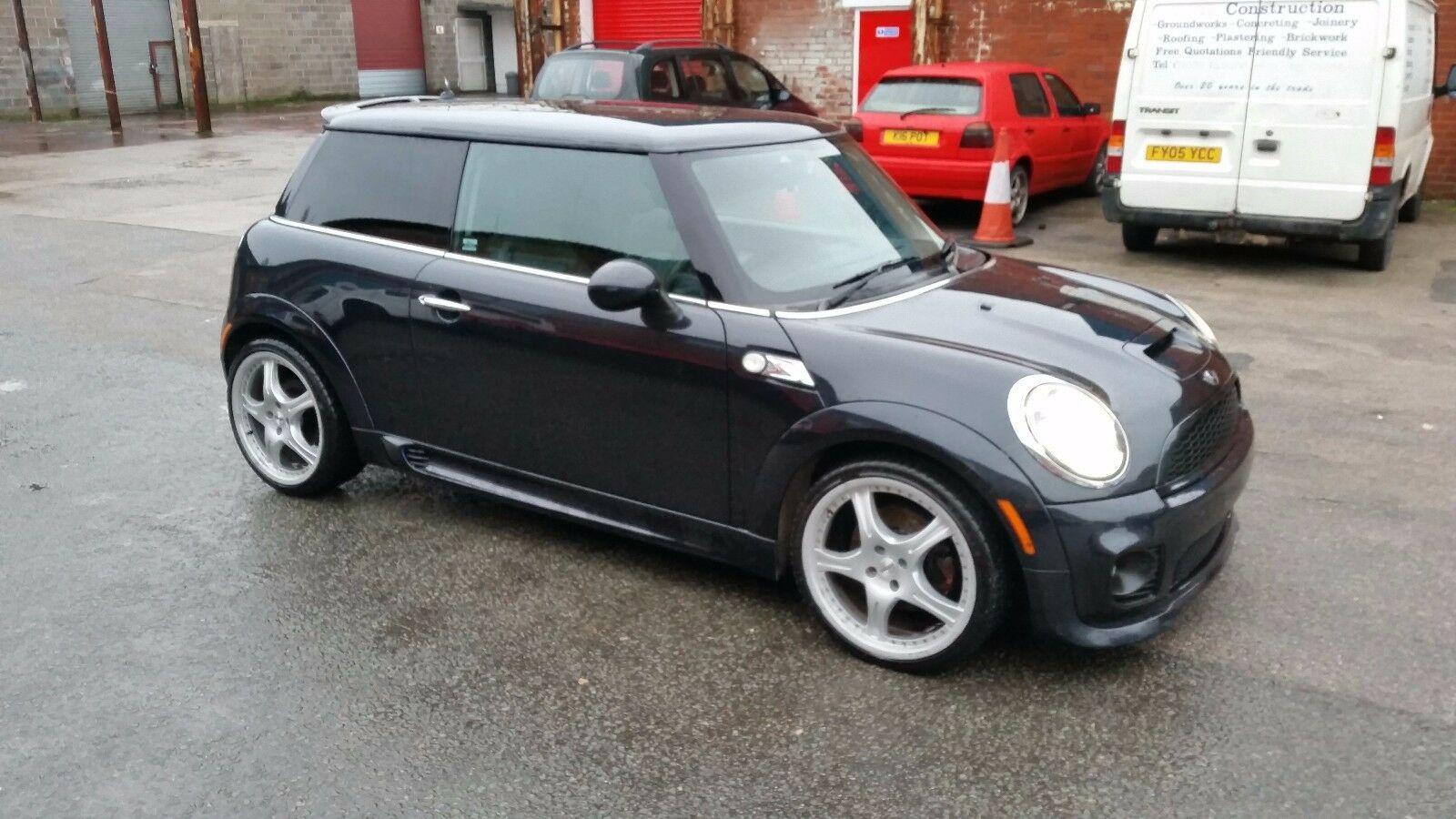 mini cooper s r56 1 6 turbo jcw aero kit black breaking spares parts salvage picclick uk. Black Bedroom Furniture Sets. Home Design Ideas